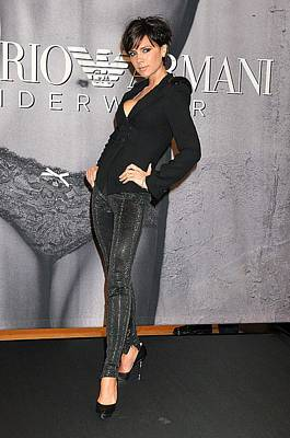 At In-store Appearance Photograph - Victoria Beckham Wearing An Emporio by Everett