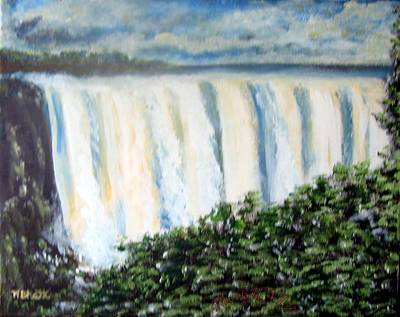 Victoria Falls Art Print by M Bhatt