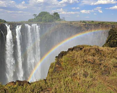 Zambia Waterfall Photograph - Victoria Falls by Tony Beck