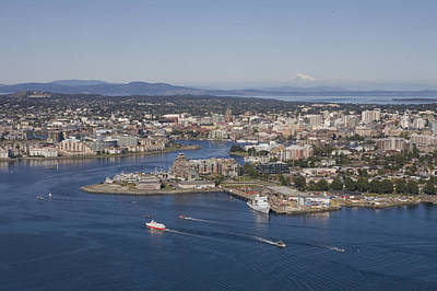 Esquimalt Photograph - Victoria From The Air On A Sunny Summer by Taylor S. Kennedy