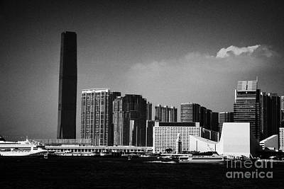 Victoria Harbour View Of Kowloon Tsim Sha Tsui Skyline Including Star Ferry Terminal Hong Kong Art Print
