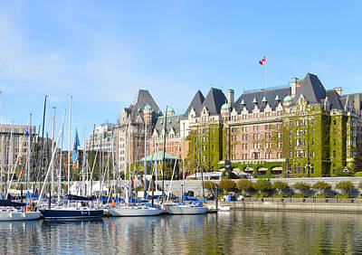 Victoria Vancouver Island Hotel Art Print by Ann Marie Chaffin