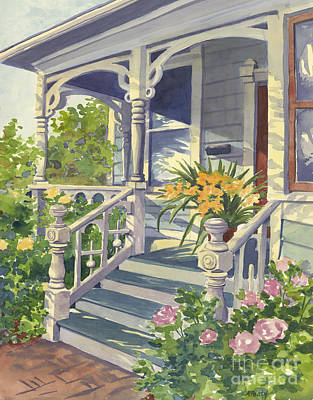 Painting - Victorian Front Porch  by Audrey Peaty