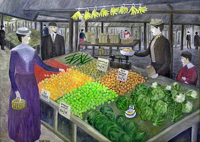 Market Painting - Victorian Market 1905 by Ronald Haber