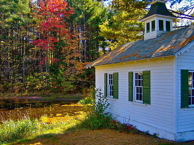 Victorian Shed In Fall 5 Art Print