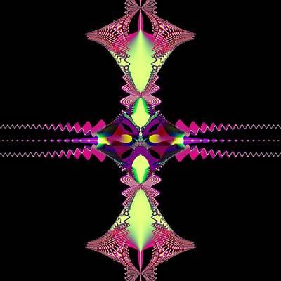 Cross Pendant Digital Art - Victorian Star Crest by Deborah Juodaitis