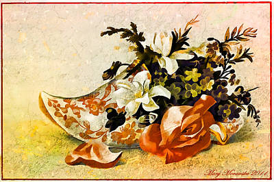 Mixed Media - Victorian Trade Card by Mary Morawska