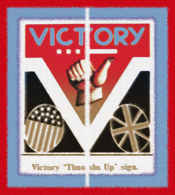 Overcoming Mixed Media - Victory Sign Diptych by Steve Ohlsen