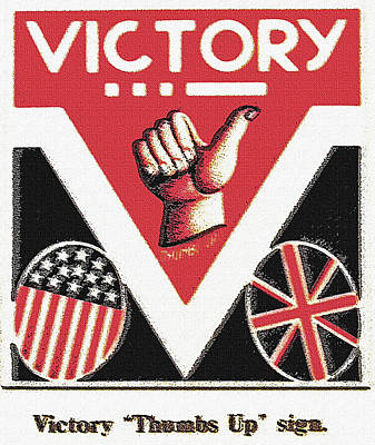 Victory Sign Art Print by Steve Ohlsen