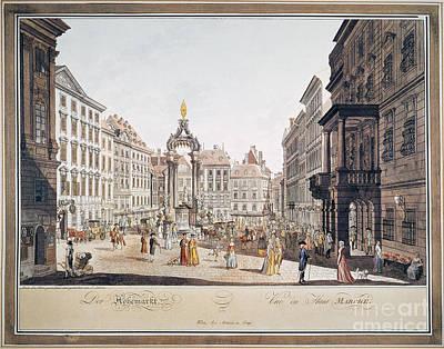 Photograph - Vienna: Hohemarkt, 1793 by Granger