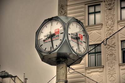 Malmo Digital Art - Vienna Time by Barry R Jones Jr