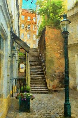 Painting - Viennese Side Street by Jeffrey Kolker
