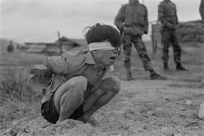 Viet Cong Prisoner Of War. A Terrified Print by Everett