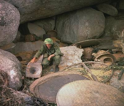 Vietnam War. Us Army Infantryman Print by Everett