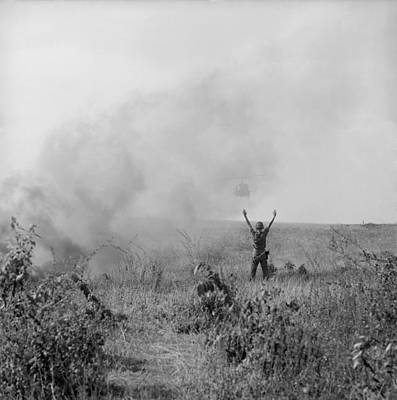 Vietnam War. Us Army Soldier Directs Print by Everett