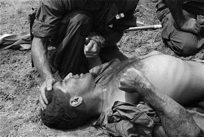 Vietnam War. Us Marine Wounded Art Print