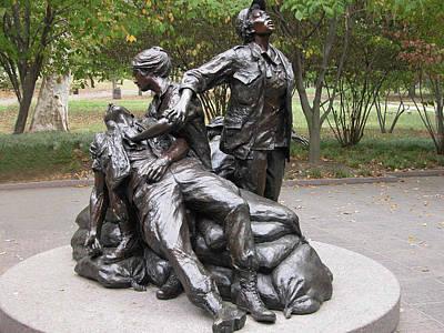 Photograph - Vietnam Women's Memorial by Guy Whiteley