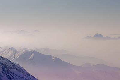 View Across Chamonix Valley Art Print by Ginny Battson