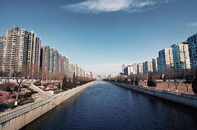 Beijing Photograph - View Down Canal by Andy Brandl