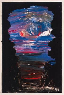 View From A Cave On Venus Art Print by Rhetta Hughes