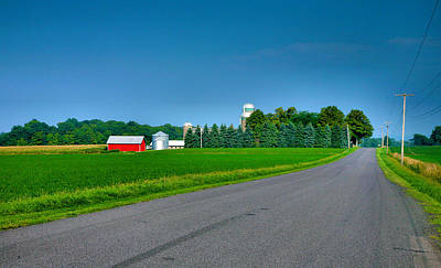 View From A Country Road Art Print by Steven Ainsworth