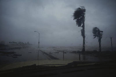 Of Hurricanes Photograph - View From A Vehicle Of Hurricane Allen by Annie Griffiths