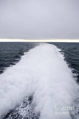 View From Back Of Ferry, Strait Of Juan De Fuca, Washington Art Print by Paul Edmondson