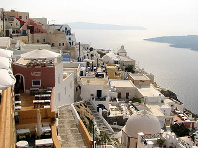 Photograph - View From Fira by Carla Parris