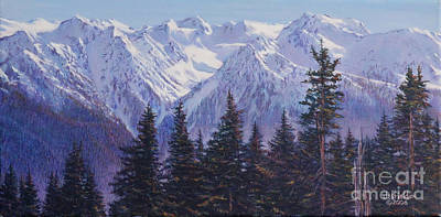 Painting - View From Hurricane Ridge by LeRoy Jesfield