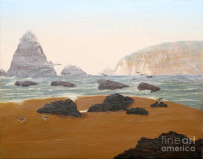 Painting - View From Luffenholtz Beach by L J Oakes