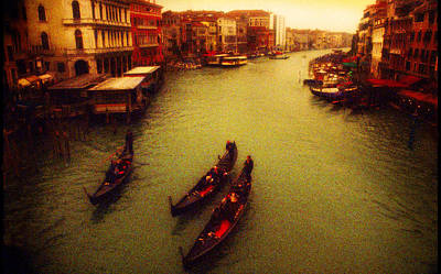 Photograph - View From Rialto Bridge by John Galbo