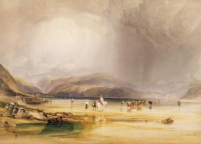 Graphite Photograph - View From Snowdon From Sands Of Traeth Mawe by Anthony Vandyke Copley