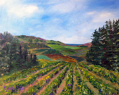 View From Soquel Vineyards Original by Annette Dion McGowan