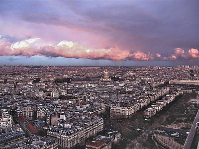 View From The Eiffel 2 Art Print by David Ritsema