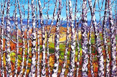 View From The Hill Gatineau Art Print by Margaret Chwialkowska