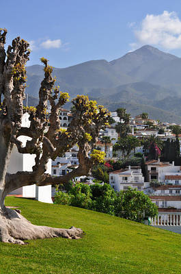 View From The Parador Nerja Art Print by Mary Machare