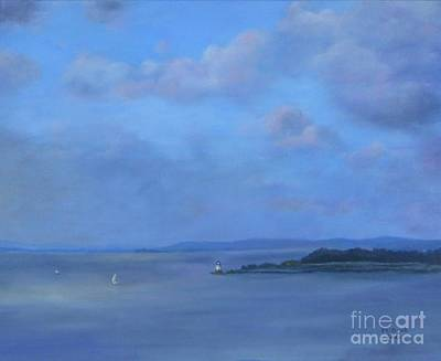 Painting - View From The Tappan Zee Bridge by Marlene Book
