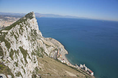 The Sea Of Tranquility Photograph - View From Top Of The Rock, Gibraltar, Uk by Barry Winiker