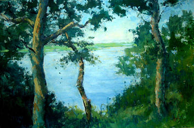 Painting - View From Turtle Mound by Berto Ortega