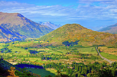 Photograph - View Leaving Queenstown Climbing The Southern Alps by Harry Strharsky