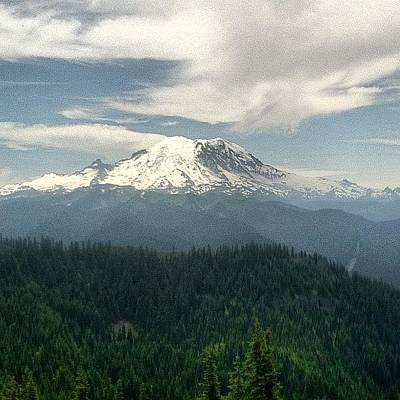 Mtb Photograph - #view #mtrainier #mtb #mountain #pretty by Paul Dewald