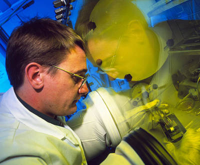 Polymer Photograph - View Of A Light-emitting Polymer Researcher by David Parker