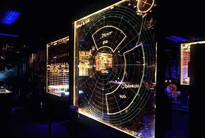 View Of A Radar Scope Aboard Art Print by Everett