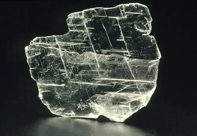 View Of A Sample Of Selenite, A Form Of Gypsum Art Print
