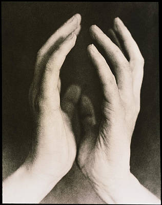 Images Of Hands Photograph - View Of A Woman's Hands Held Together by Cristina Pedrazzini