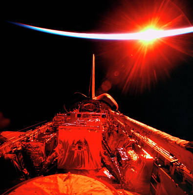 Space Ships Photograph - View Of An Eclipse From Space by Stockbyte