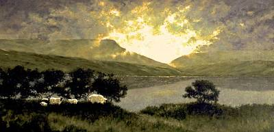 Pasture Wall Art - Painting - View Of Ben Bulben by Jim Gola