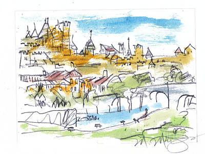View Of Carcassone France Art Print