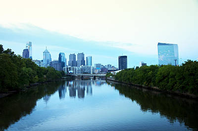 View Of Center City Philadelphia From The Schuylkill River Art Print by Bill Cannon
