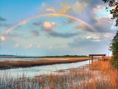View Of Charleston Rainbow  Art Print by Jenny Ellen Photography